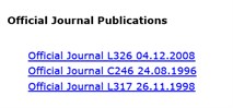 Official Journal Publications